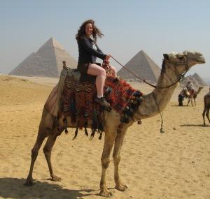 Camel ride to the pyramids