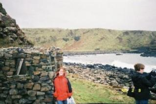 Standing at one of my favorite destinations-- the Giant's Causeway