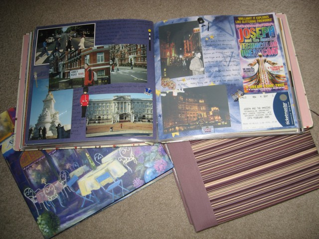 Scrapbooks from my travels abroad