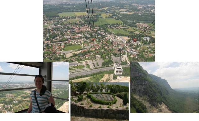 Traveled up Mt. Saleve in a cable car to look over the valley