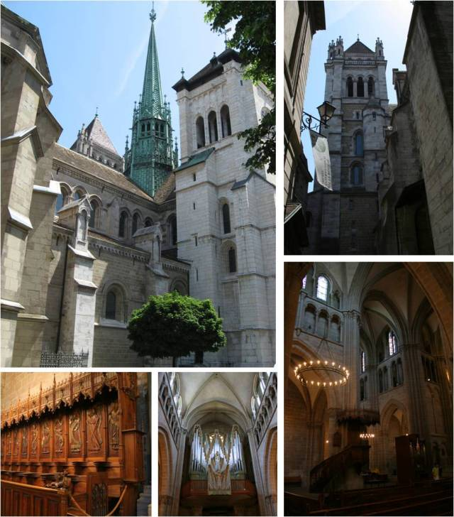 Finished up at St. Pierre's Cathedral, which was beautiful inside and out, before catching my train