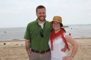 Fiance and I at the beach