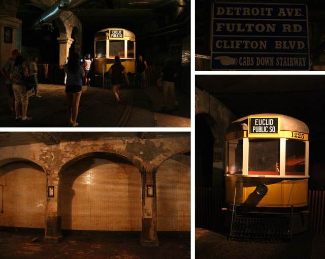 We walked along under the bridge, following the old tracks to what used to be a station. There were several presentations going on and old directional signage and the actual cars were accessible for pictures. We could not have timed our adventure better if we had tried!
