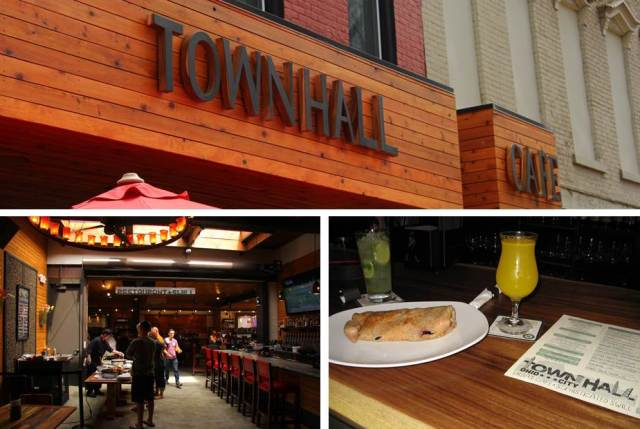 We walked along West 25th for breakfast at Townhall. I've been waiting for it to open, and was not disappointed! They have a build-your-own-crepe station for goodness sakes! We also tried the homemade ginger ale (VERY gingery) and the Townhall mimosa, made from hard cider and orange juice. Yum!
