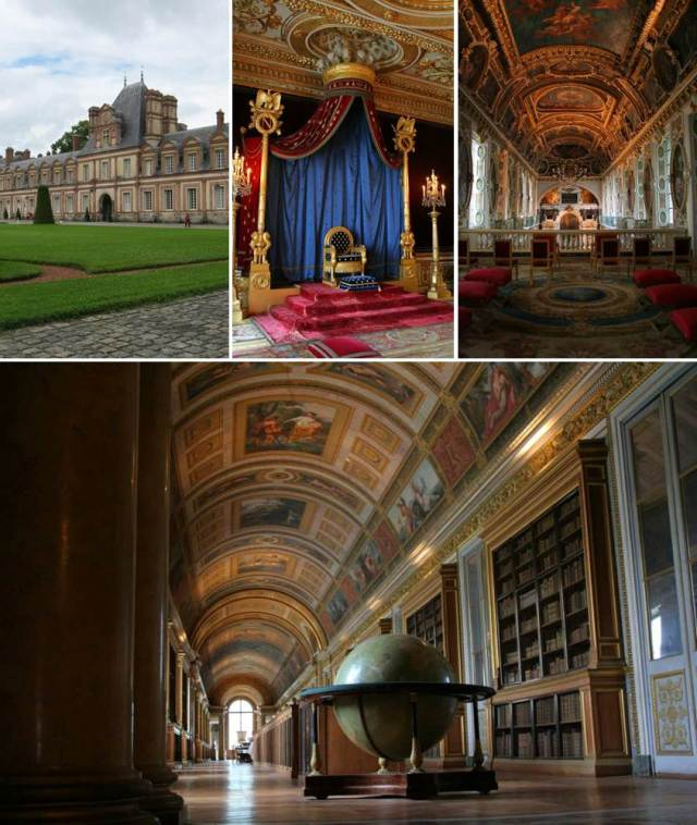Touring Fontainebleau, seeing Napoleon's throne and my favorite room, the library! My dream room!