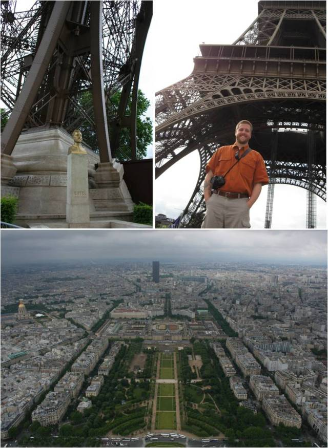 We started day one at the Eiffel Tower--rode to the top and walked back down. There were a few intermittent showers but they didn't ruin anything!
