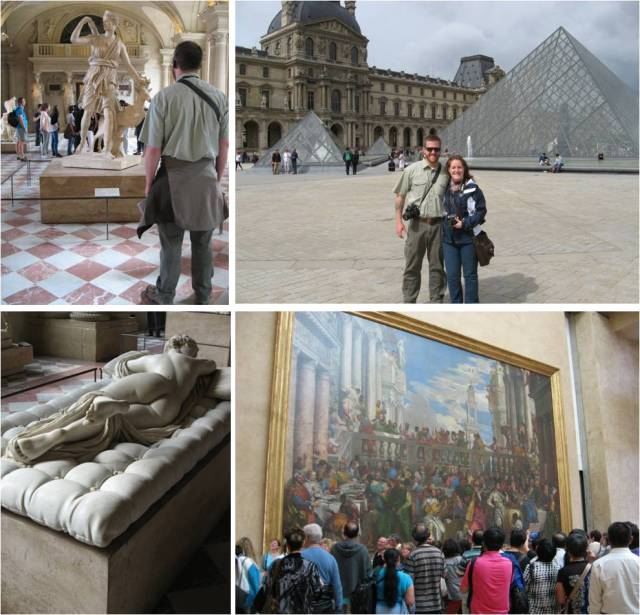 Day two began at the Louvre. It was so crowded our visit didn't end up lasting long, but we saw all of the masterpieces.