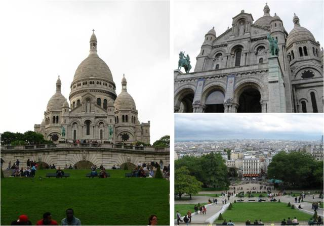 We took the metro to Montmartre for some shopping and a climb to the Sacre Couer. Views of the whole city but no pictures allowed in the church.