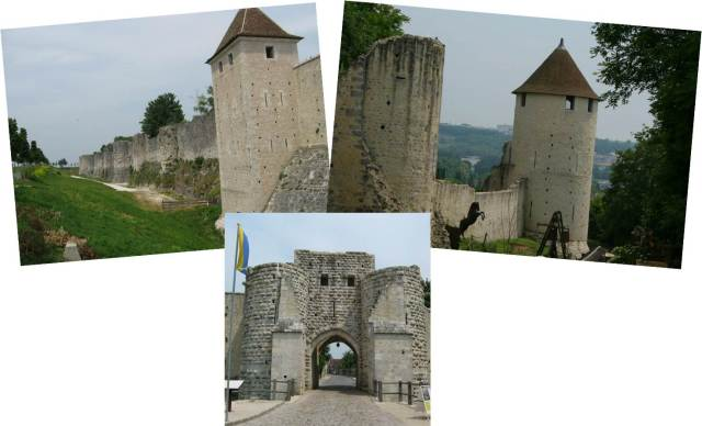The fortified gate and ramparts, as well as the walk down to the festivals as you pass the black horse.
