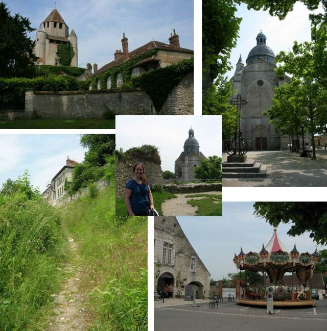 Clockwise from top left: Caesar's Tower, St. Quil church, Jules Verne-inspired carousel on a random street corner, the off-the-beaten trail path I walked to get to the top of the hill. Center is me on the first level of the tower looking toward the church.