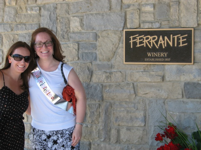 Candis and I at the first winery, Ferrante