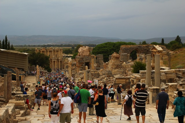 Wandering through Ephesus, which was more incredible every corner we turned
