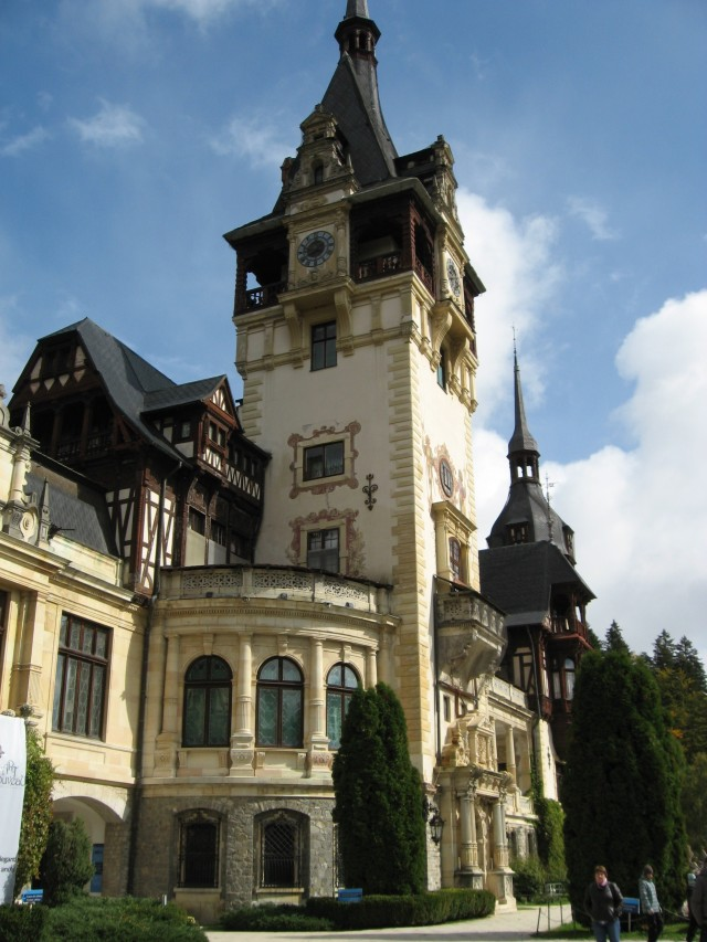 Our first stop was the beautiful and ornate Peles Castle, which was hidden up in the hills and gorgeous inside and out