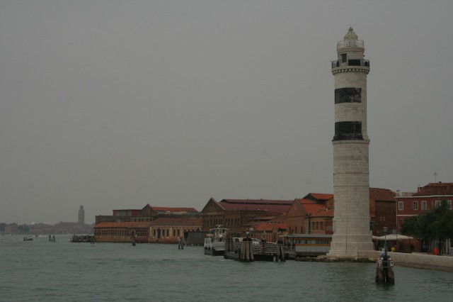 Riding out to Murano island