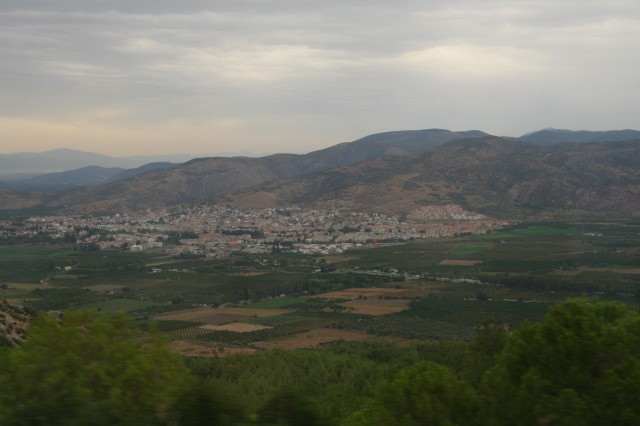 Looking over the mountain from Mary's House to the city below as we wound around the Ephesus