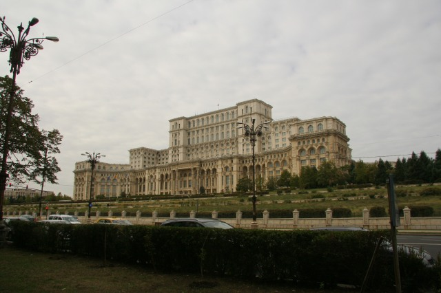 Palace of the Parliament, the second largest building in the world, which wiped out historic neighborhoods and churches in its highly controversial construction