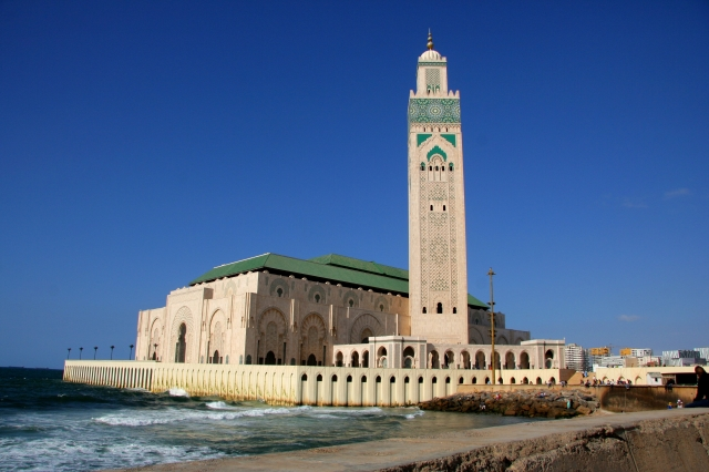 Hassan II mosque during our half-day trip to Casablanca