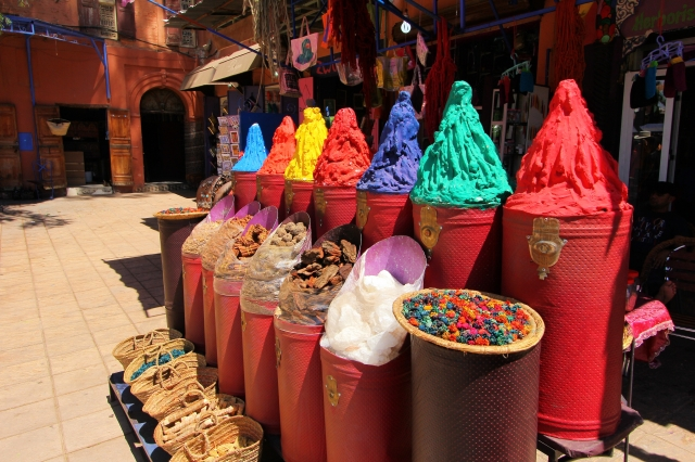 Beautiful pigments in a Marrakech market