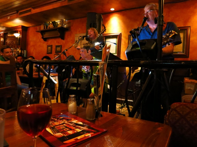 We ended the evening back at the pub with front-row seats for the band