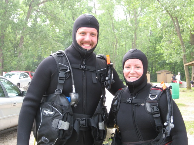 Certified divers!
