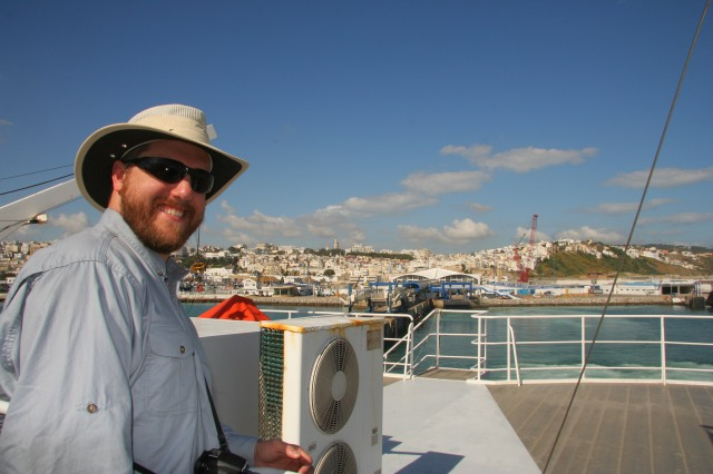 My husband is ALWAYS up for a boat ride, and this one took us from Tangier to Tarifa.