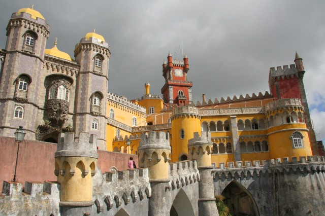 Our day trip to Sintra began with a train ride to the small city and then a bus to the incredible Pena Palace!