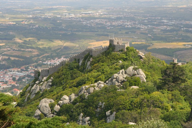 From the cross, our view of the surrounding countryside and the Moorish Castle.