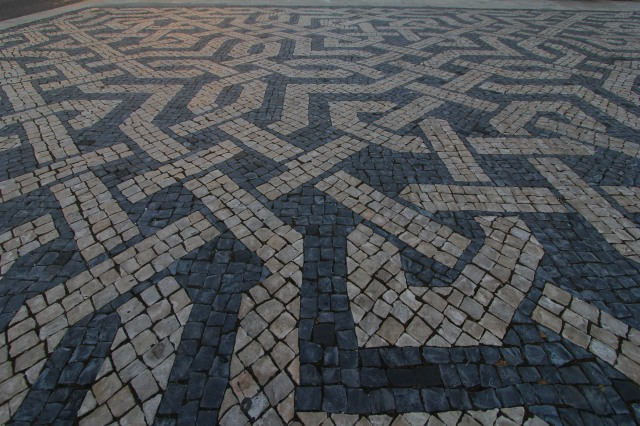 We loved the crazy black and white squares indicative of Lisbon. We read that people actually got sea-sick walking on them when they were first installed long ago.