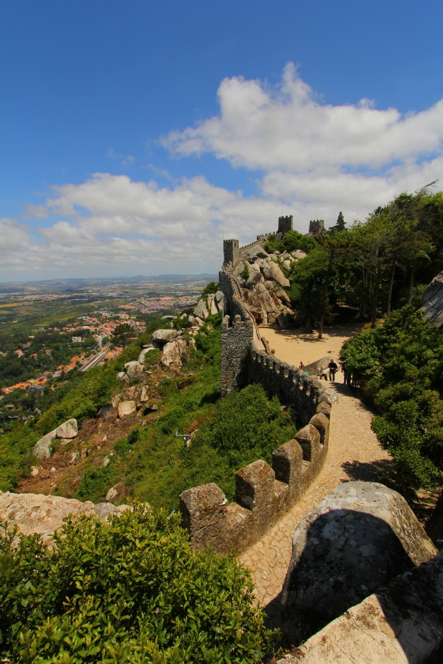 The Moorish Castle is really the remains of the former fortress' walls, which you can climb for amazing views.