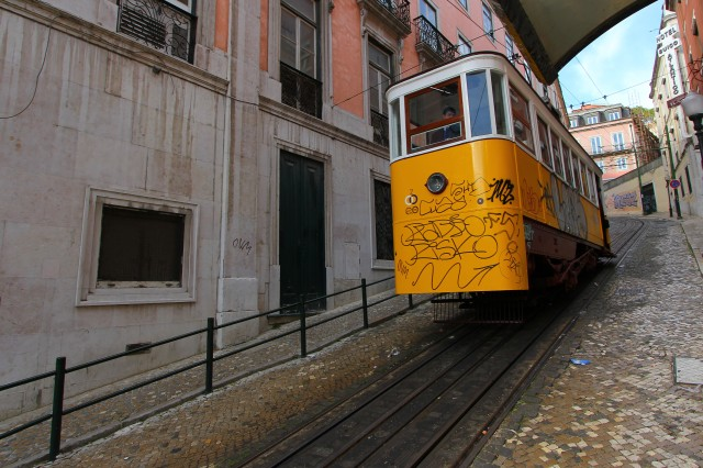 The next day we explored the three main neighborhoods of Lisbon, beginning with a funicular ride to Bairro Alto.