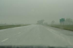 Piles of hail!