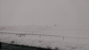 Snow piling up along I-90 in western South Dakota